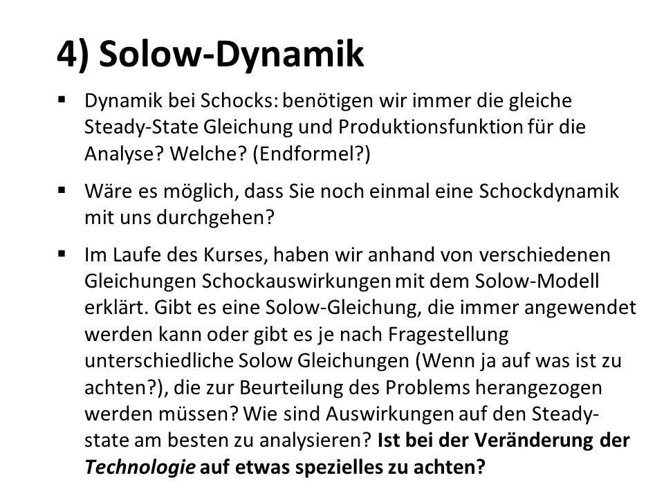 4) Solow-Dynamik