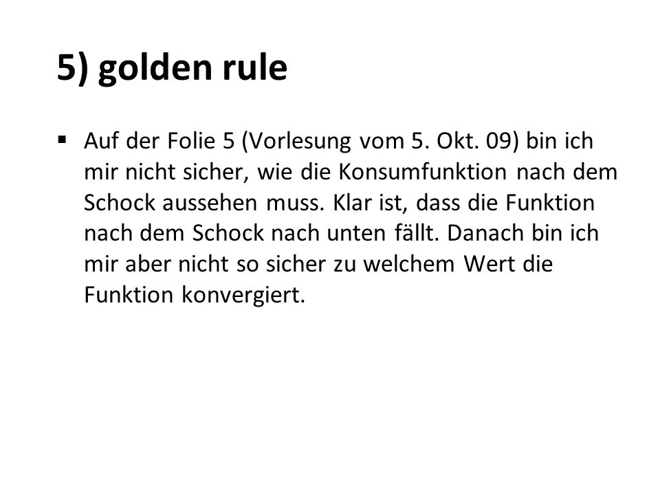 5) golden rule