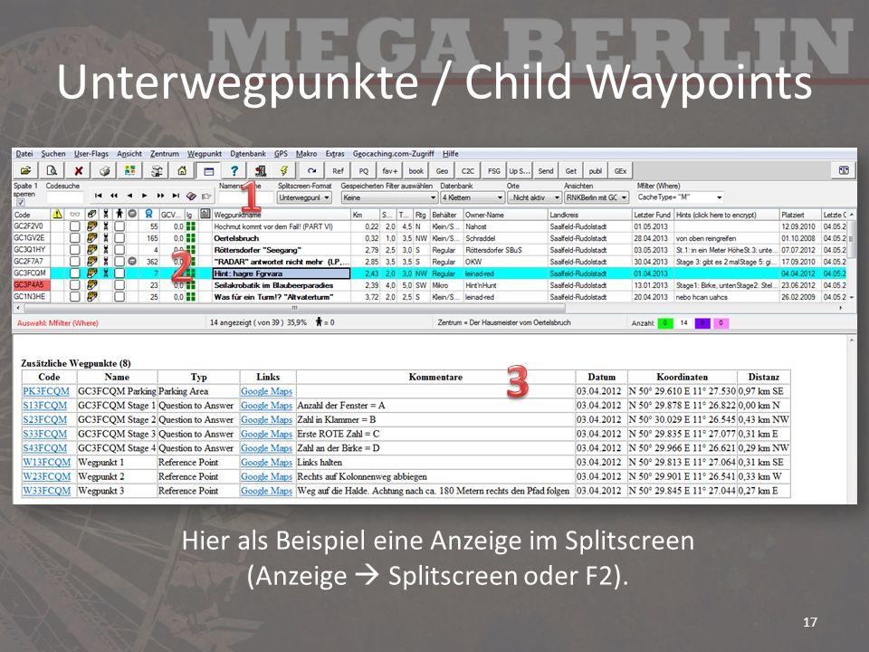 Unterwegpunkte / Child Waypoints