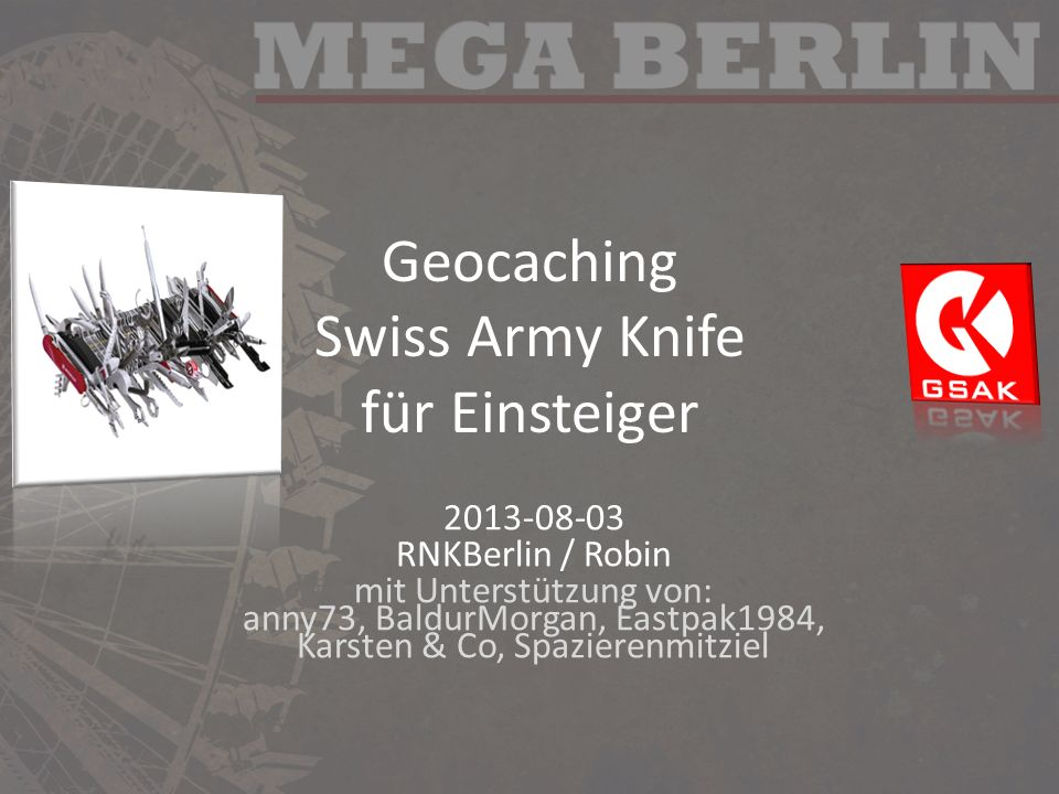 Geocaching Swiss Army Knife für Einsteiger