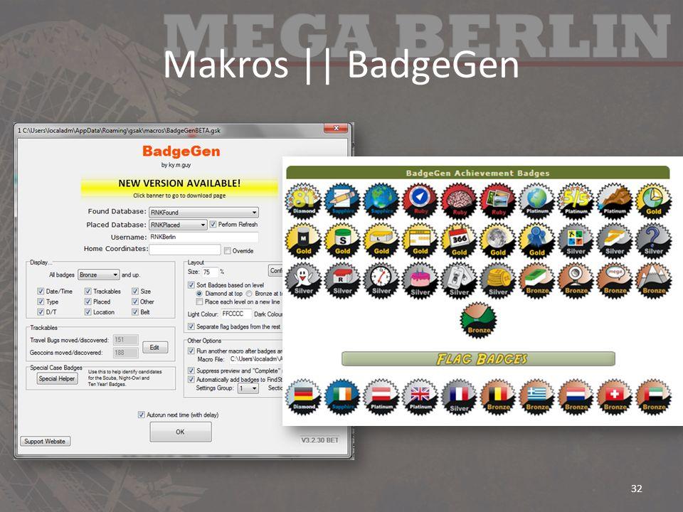 Makros || BadgeGen