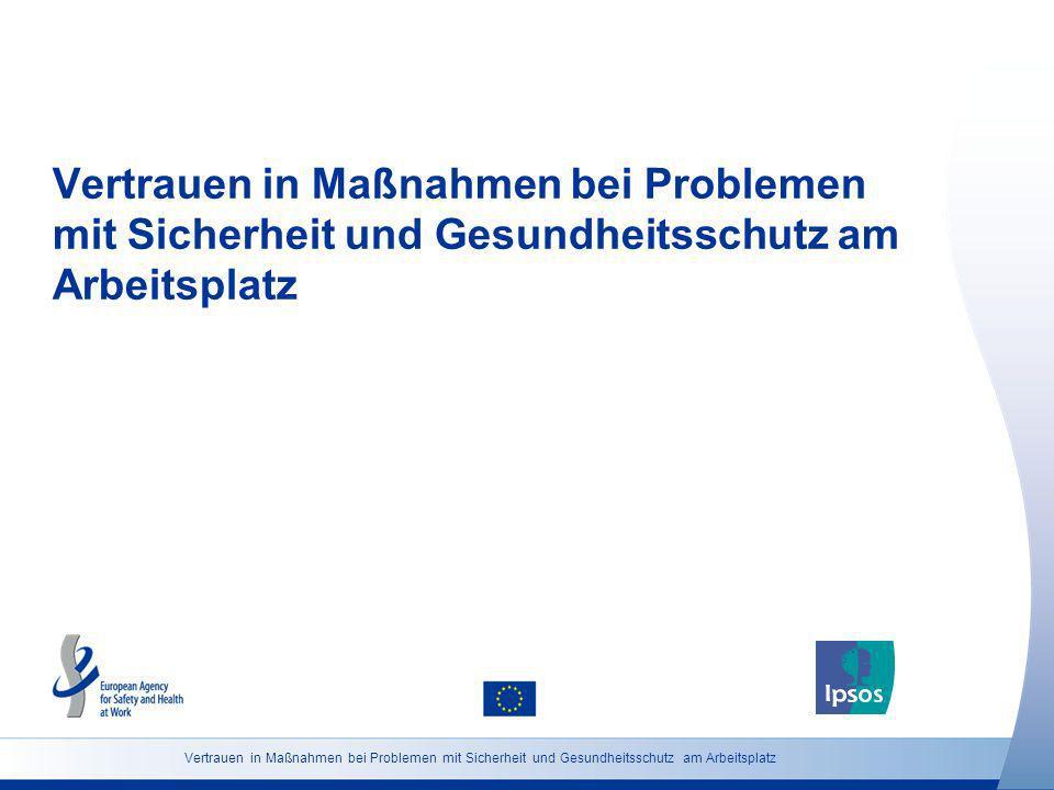 Vertrauen in Maßnahmen bei Problemen mit Sicherheit und Gesundheitsschutz am Arbeitsplatz