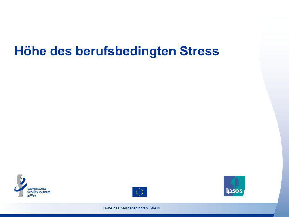 Höhe des berufsbedingten Stress