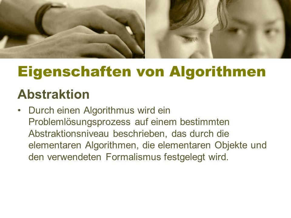 Eigenschaften von Algorithmen
