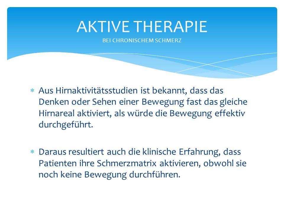 AKTIVE THERAPIE BEI CHRONISCHEM SCHMERZ
