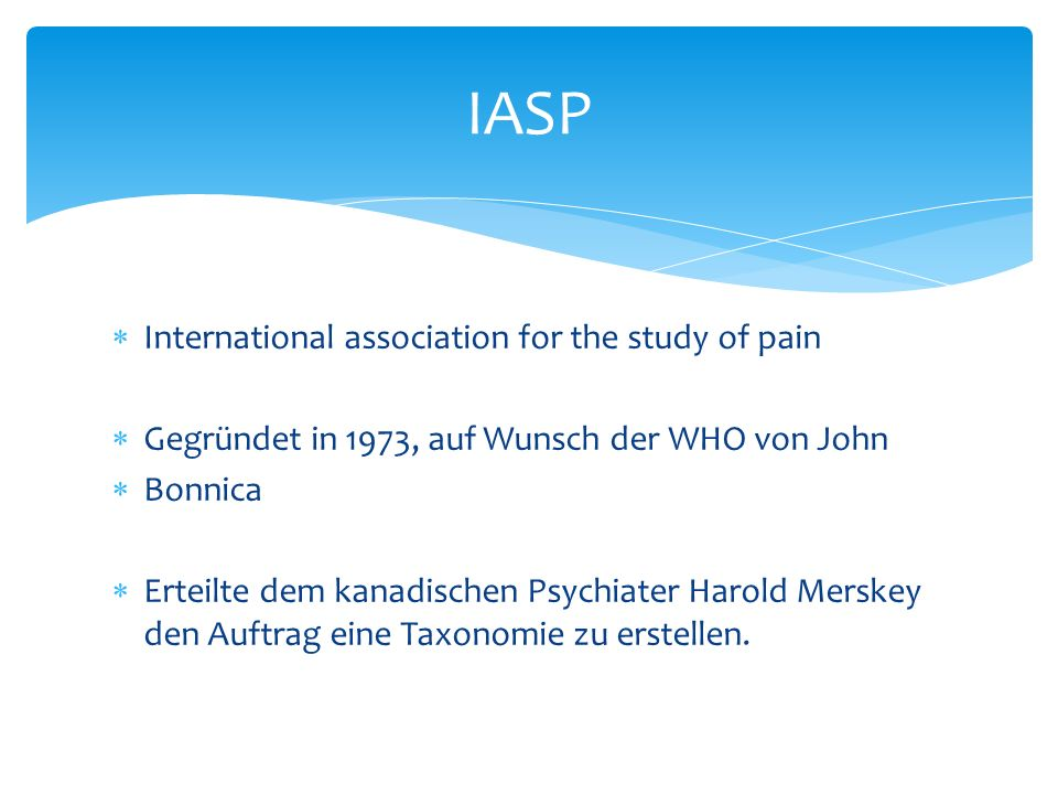 IASP International association for the study of pain