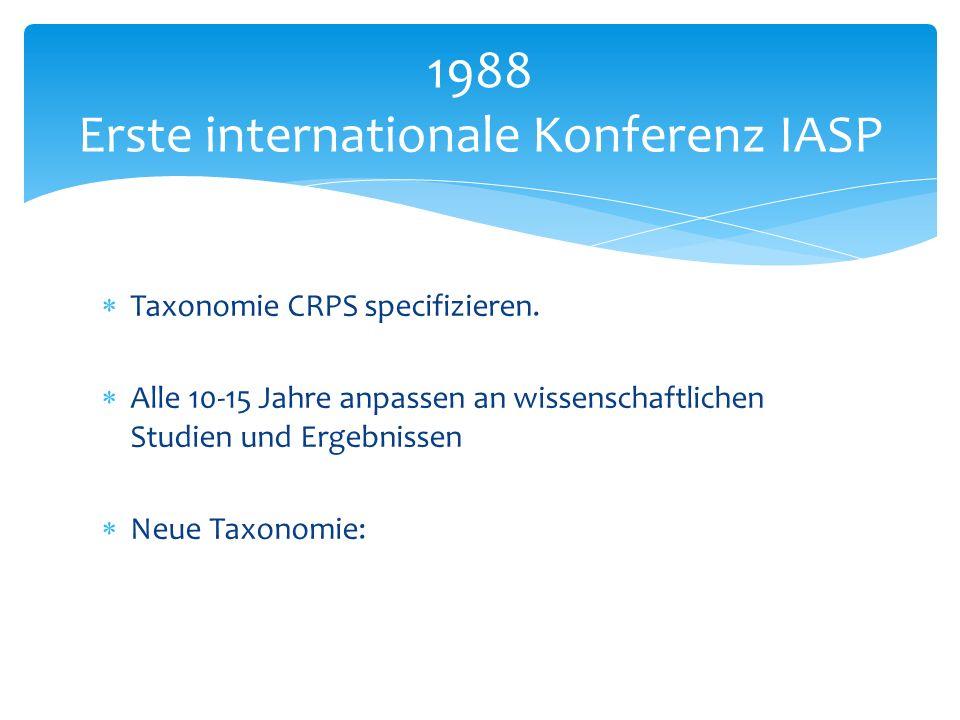 1988 Erste internationale Konferenz IASP