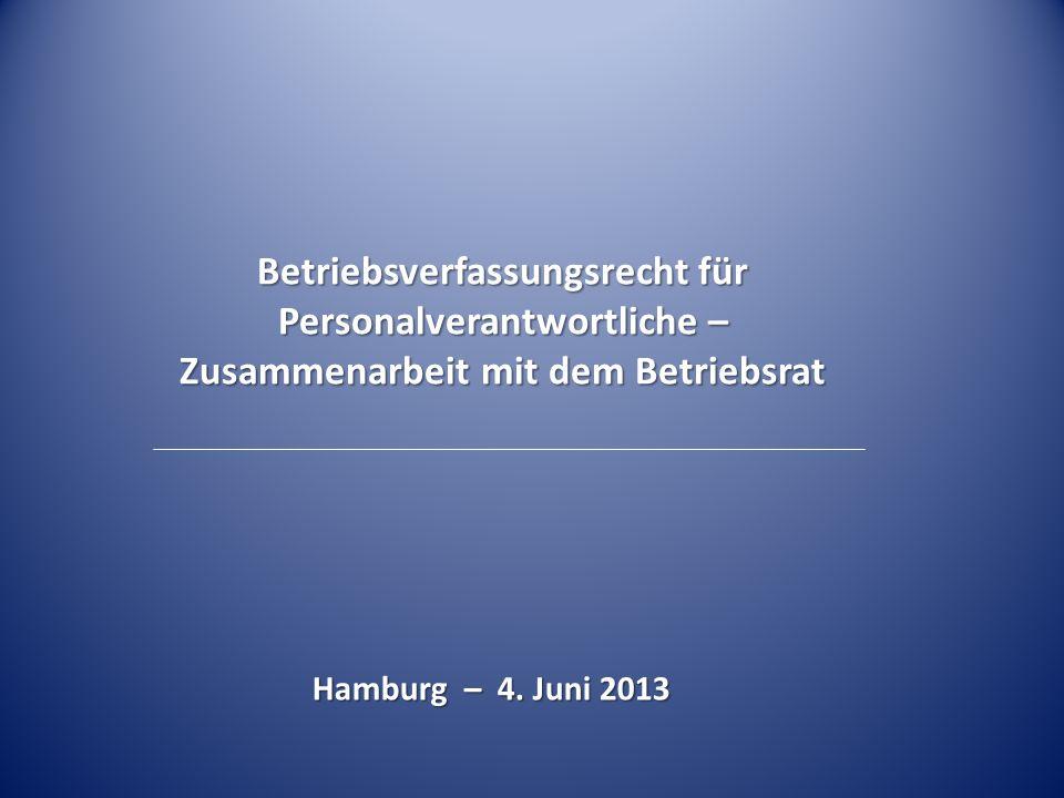 Betriebsverfassungsrecht für Personalverantwortliche – Zusammenarbeit mit dem Betriebsrat