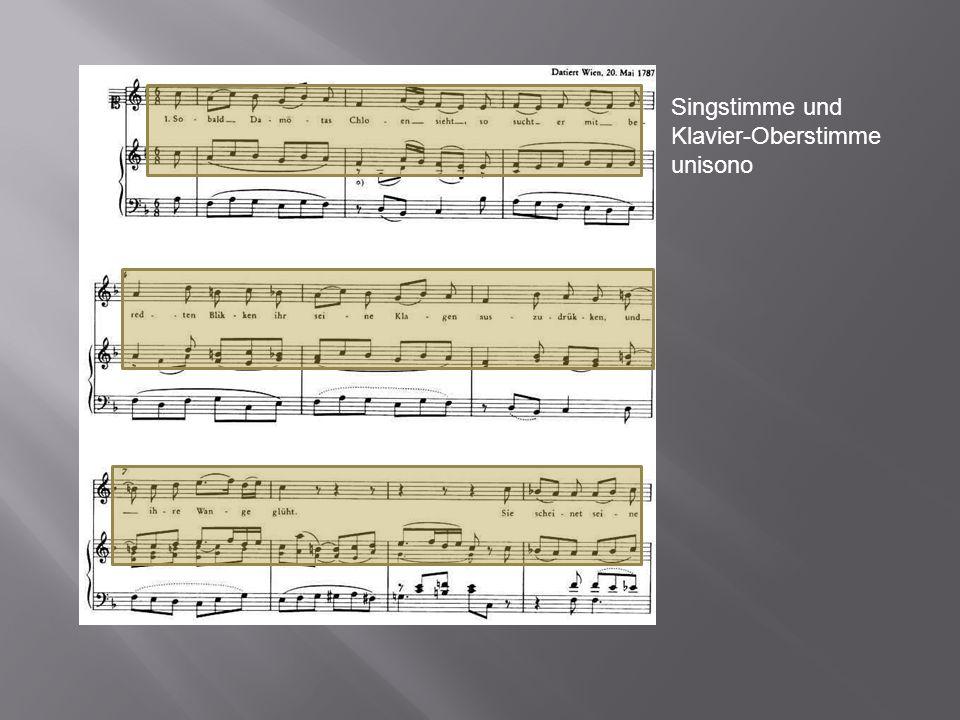 Singstimme und Klavier-Oberstimme unisono