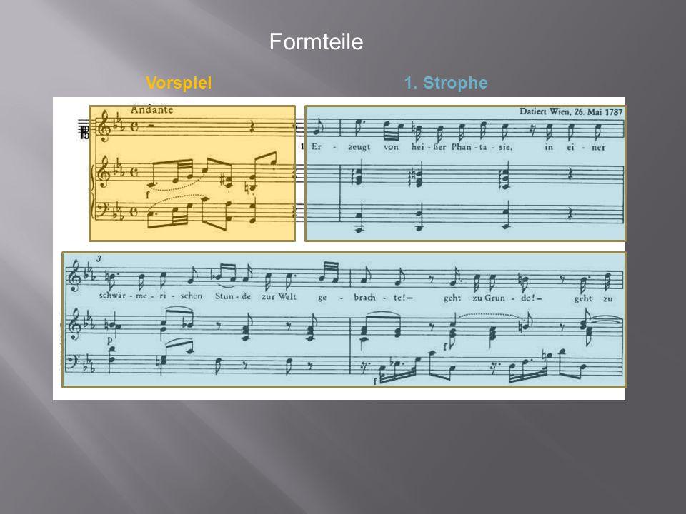 Formteile Vorspiel 1. Strophe