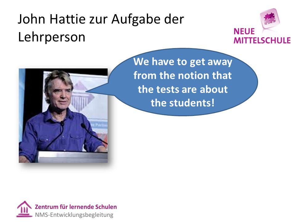 John Hattie zur Aufgabe der Lehrperson