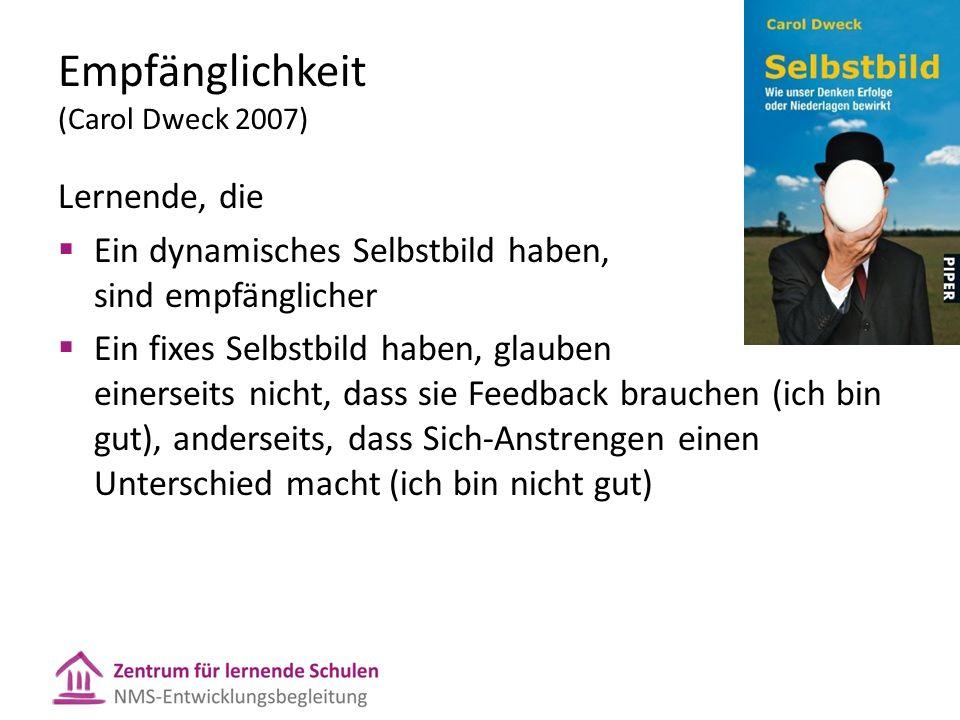 Empfänglichkeit (Carol Dweck 2007)