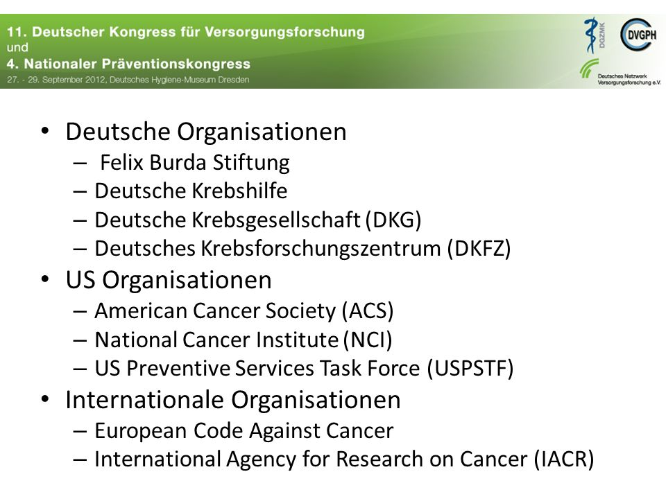 Deutsche Organisationen