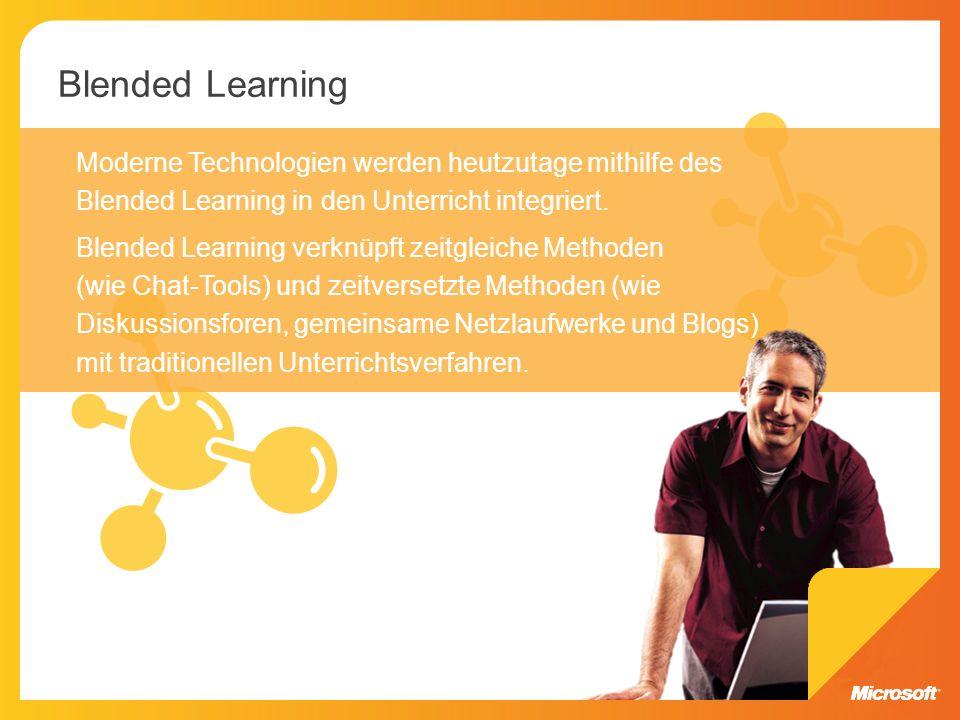 Blended Learning Moderne Technologien werden heutzutage mithilfe des Blended Learning in den Unterricht integriert.