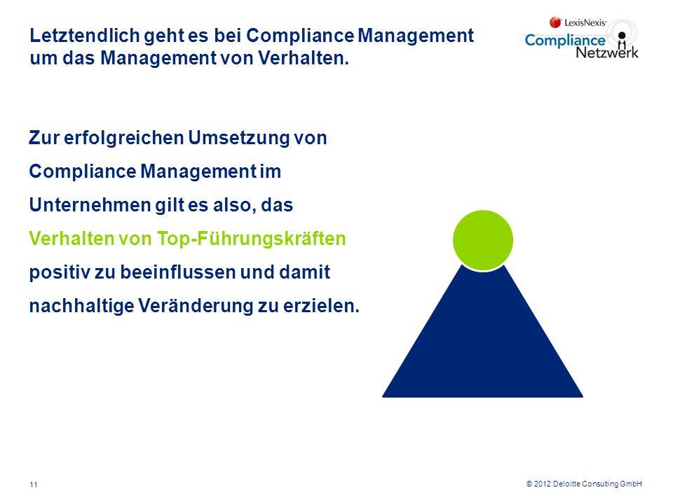 Letztendlich geht es bei Compliance Management um das Management von Verhalten.