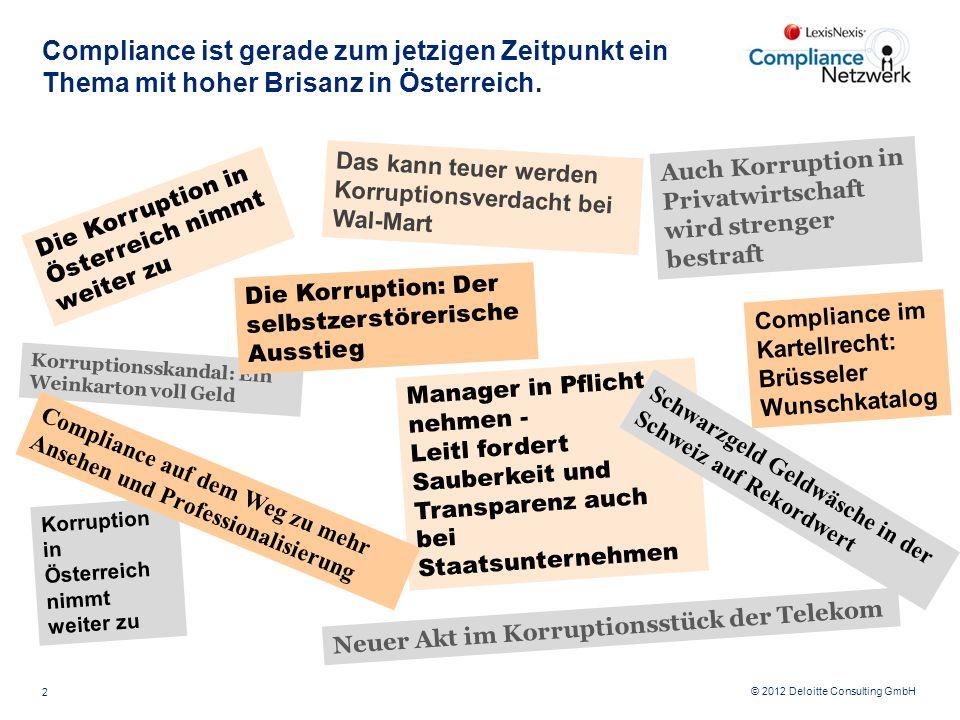 Compliance ist gerade zum jetzigen Zeitpunkt ein Thema mit hoher Brisanz in Österreich.