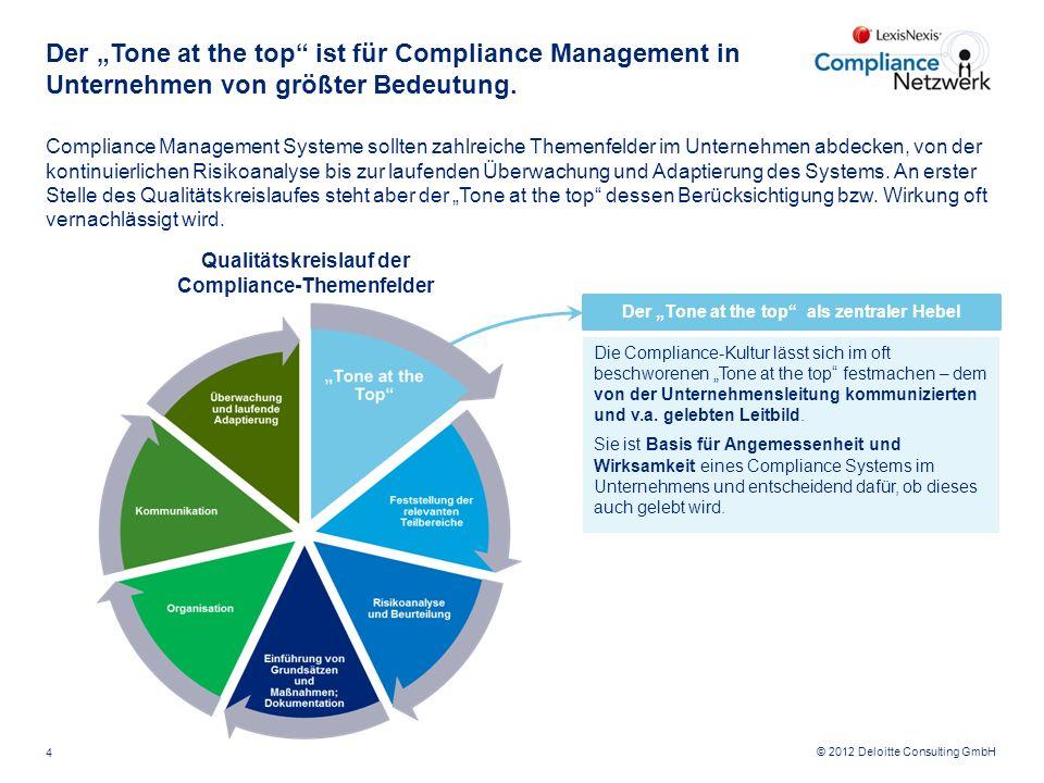 """Der """"Tone at the top ist für Compliance Management in Unternehmen von größter Bedeutung."""