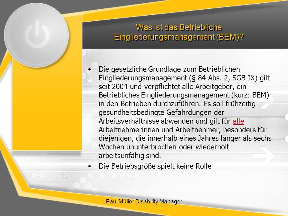Was ist das Betriebliche Eingliederungsmanagement (BEM)