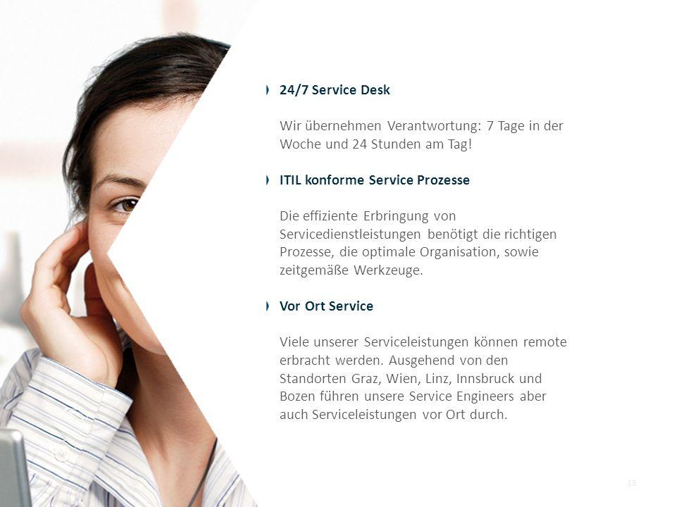 24/7 Service Desk Wir übernehmen Verantwortung: 7 Tage in der. Woche und 24 Stunden am Tag! ITIL konforme Service Prozesse.
