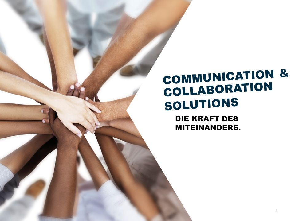 COMMUNICATION & COLLABORATION SOLUTIONS DIE KRAFT DES MITEINANDERS.