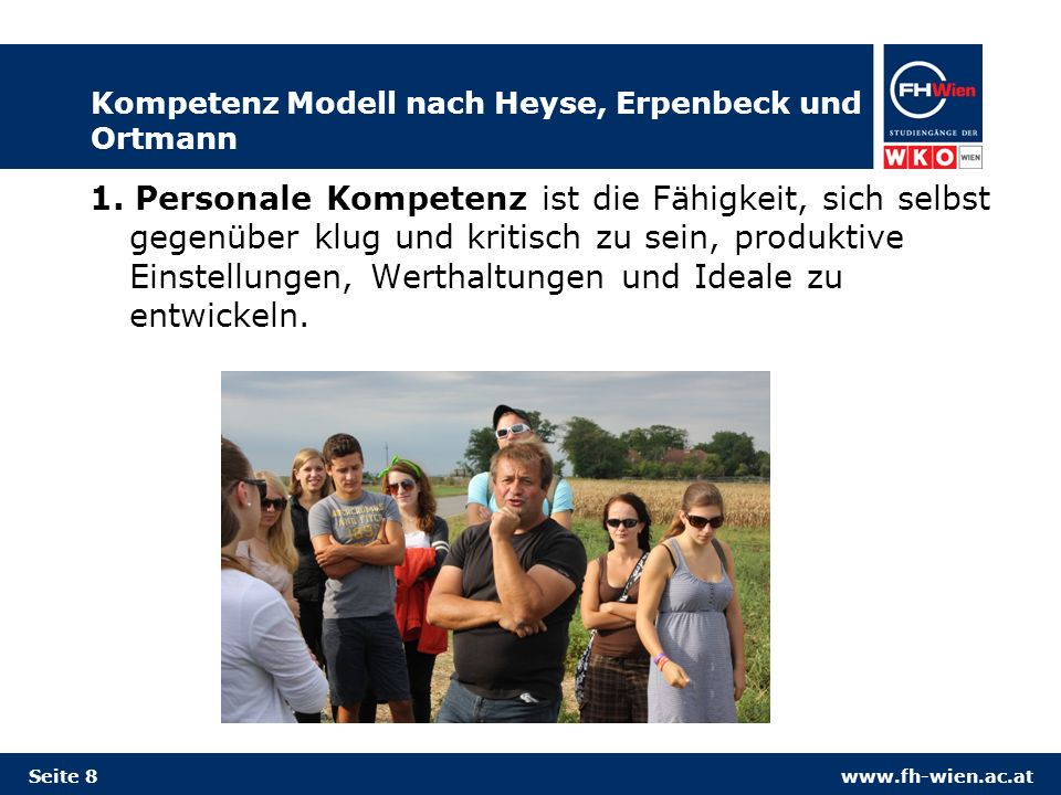 Kompetenz Modell nach Heyse, Erpenbeck und Ortmann