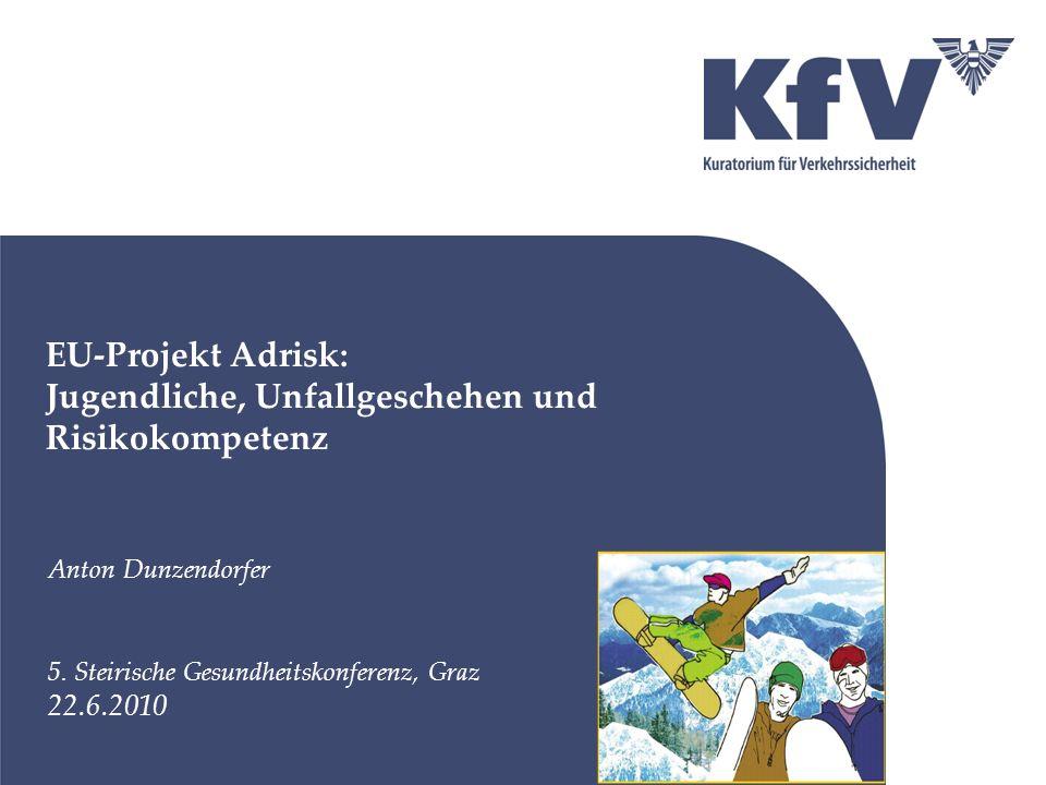EU-Projekt Adrisk: Jugendliche, Unfallgeschehen und Risikokompetenz