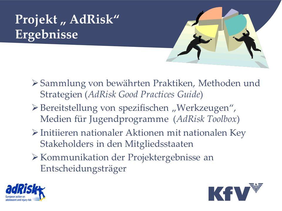 """Projekt """" AdRisk Ergebnisse"""