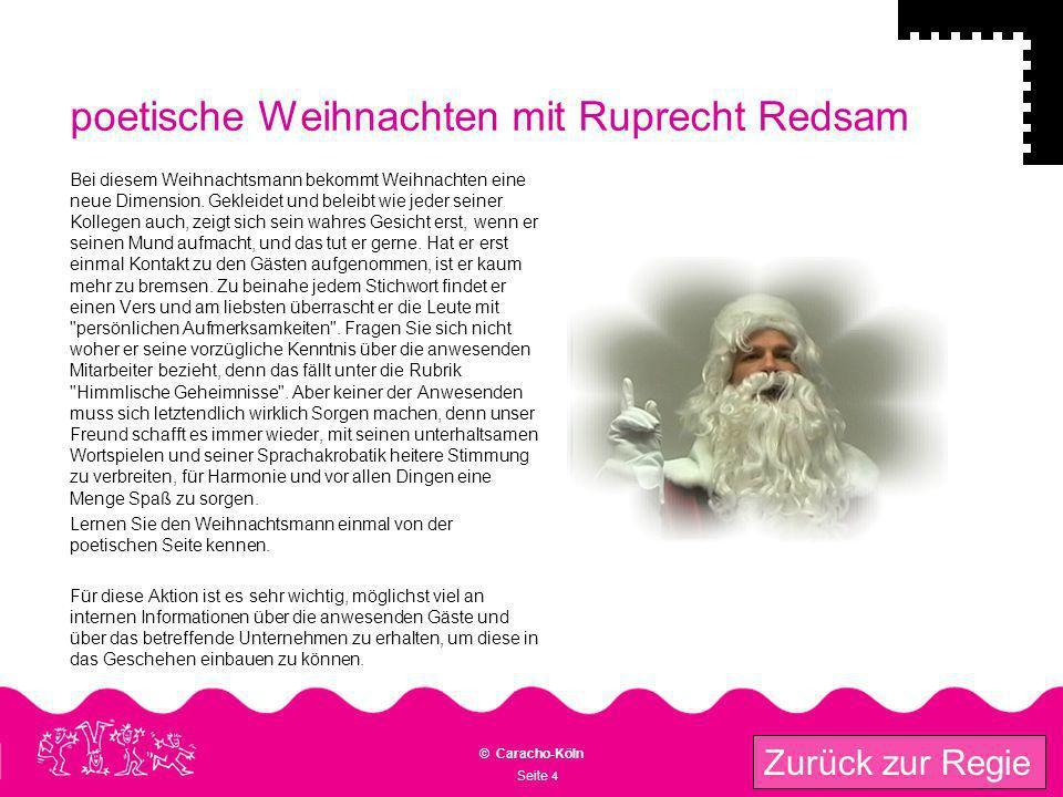 poetische Weihnachten mit Ruprecht Redsam