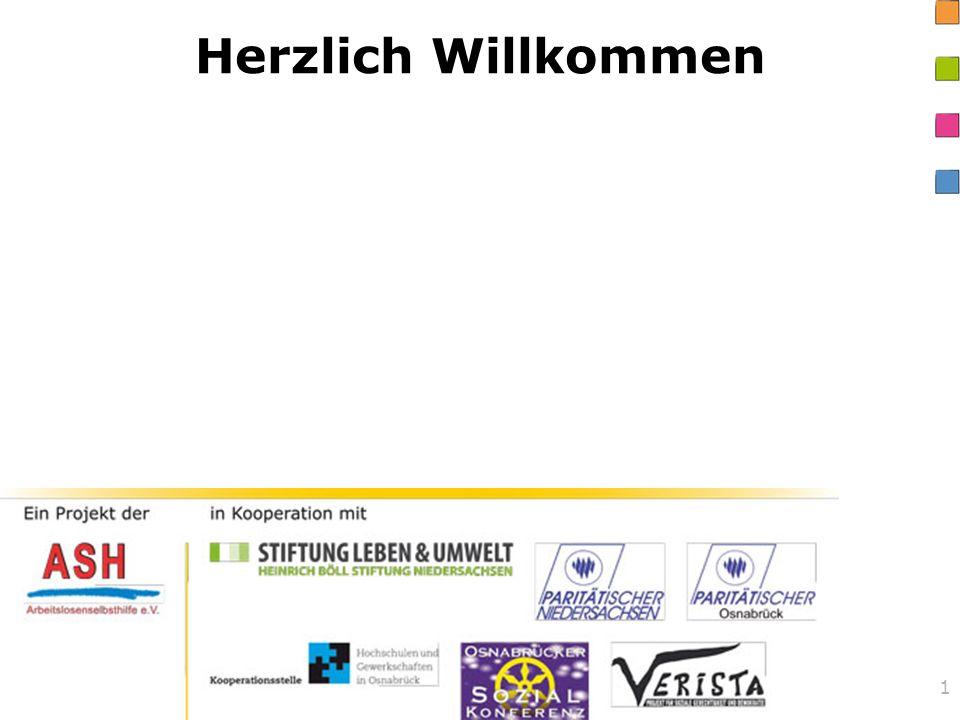 Herzlich Willkommen Ein Projekt der Arbeitslosenselbsthilfe Osnabrück