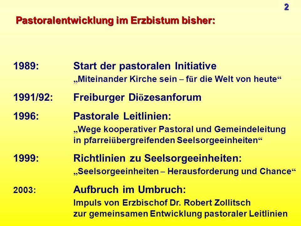 1991/92: Freiburger Diözesanforum