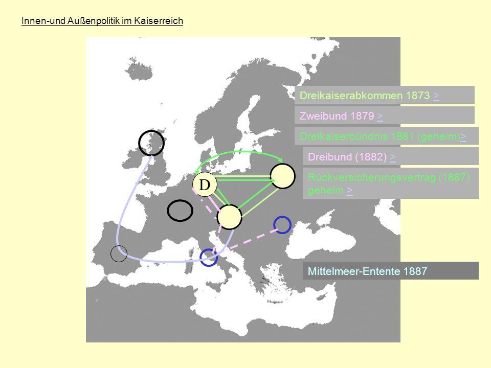D Dreikaiserabkommen 1873 > Zweibund 1879 >
