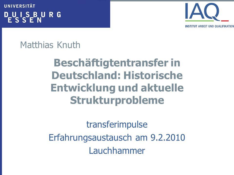 transferimpulse Erfahrungsaustausch am 9.2.2010 Lauchhammer