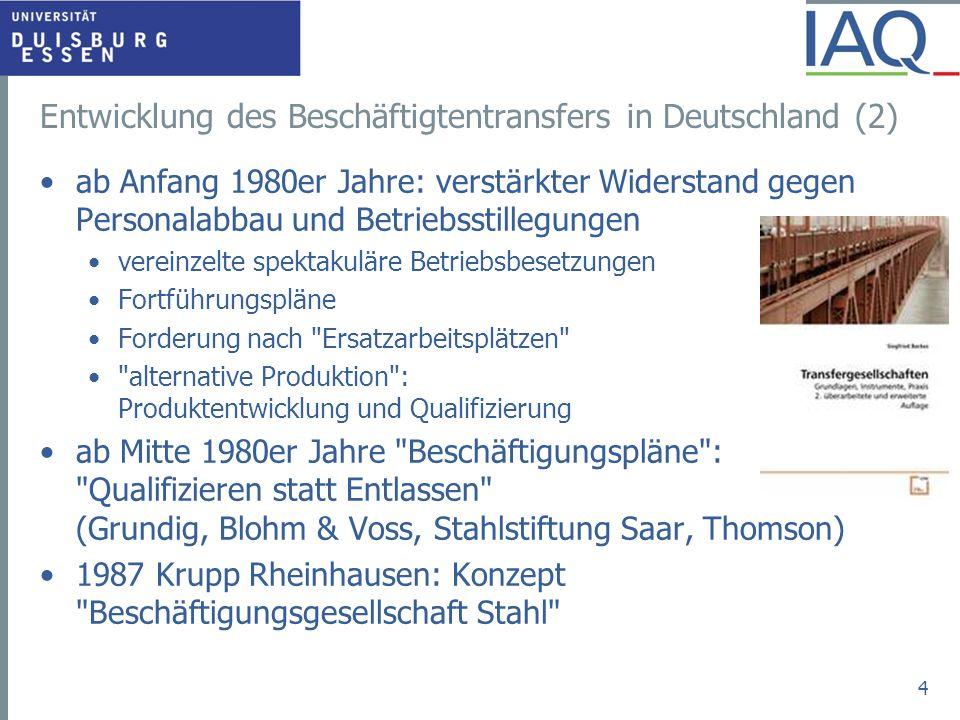 Entwicklung des Beschäftigtentransfers in Deutschland (2)