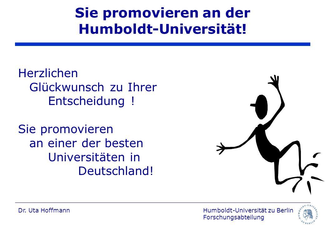 Sie promovieren an der Humboldt-Universität!