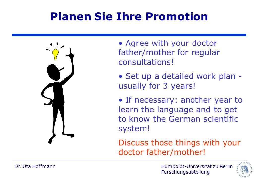 Planen Sie Ihre Promotion