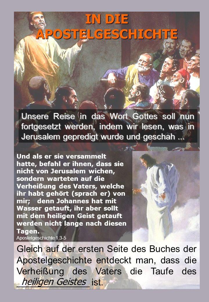 IN DIE APOSTELGESCHICHTE