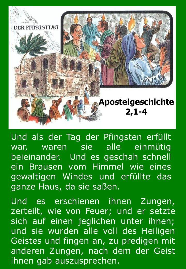 Apostelgeschichte 2,1-4