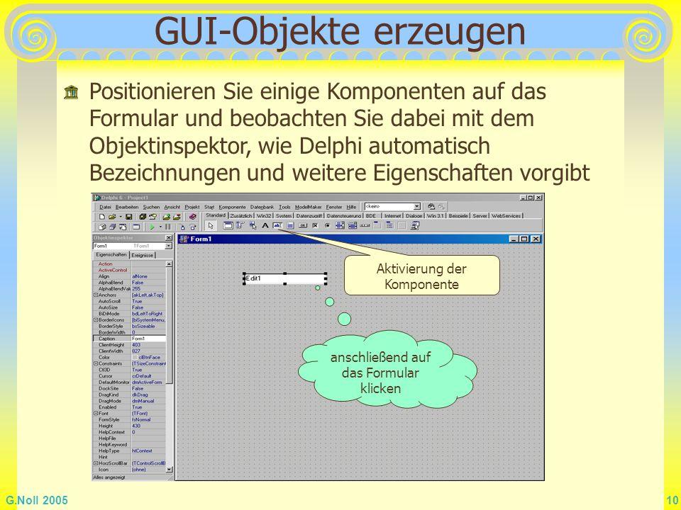 GUI-Objekte erzeugen