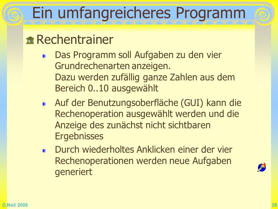 Ein umfangreicheres Programm