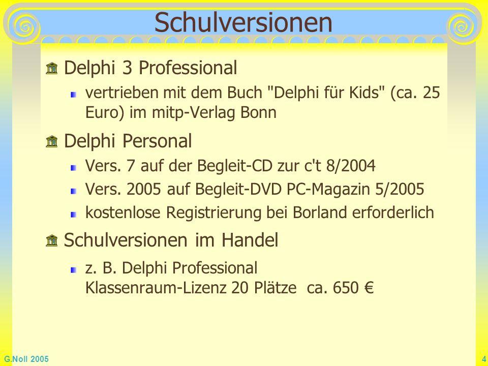 Schulversionen Delphi 3 Professional Delphi Personal