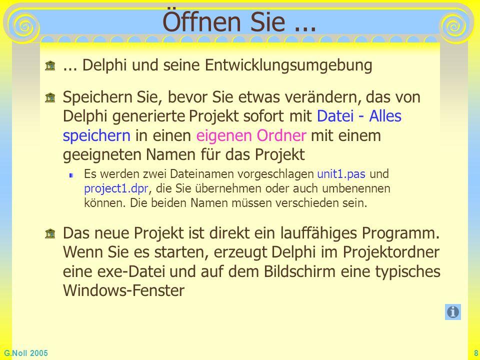 Öffnen Sie ... ... Delphi und seine Entwicklungsumgebung