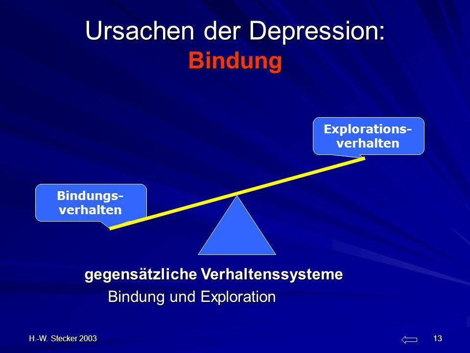 Ursachen der Depression: Bindung