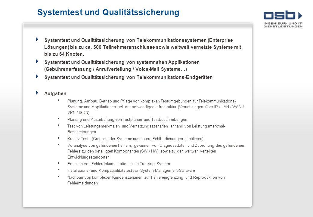 Systemtest und Qualitätssicherung