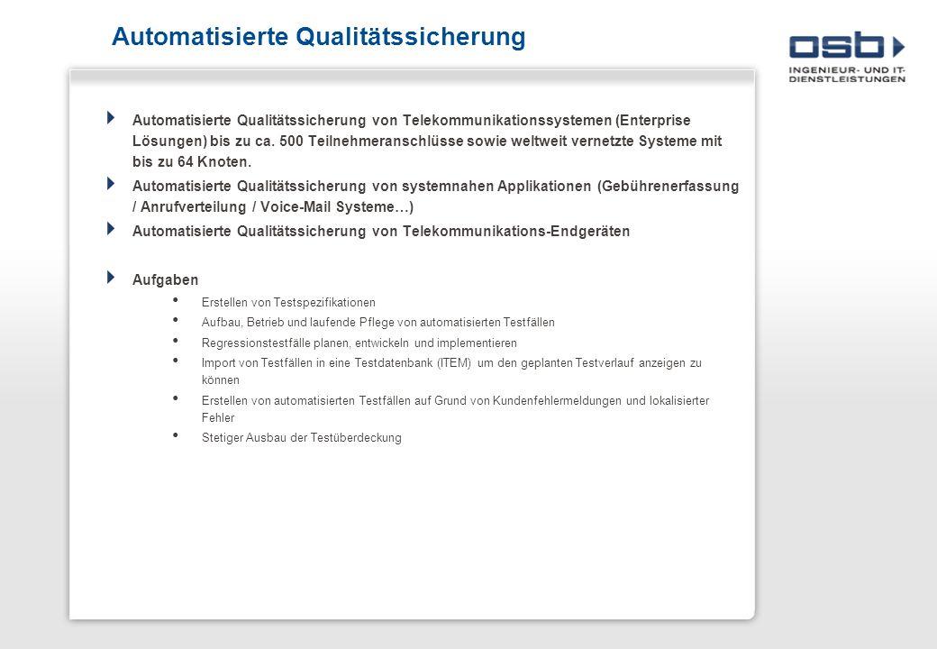 Automatisierte Qualitätssicherung