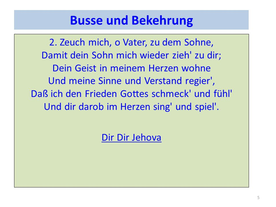 Busse und Bekehrung