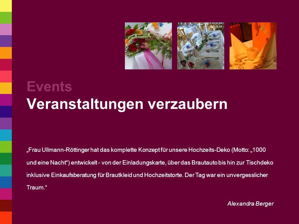 Events Veranstaltungen verzaubern