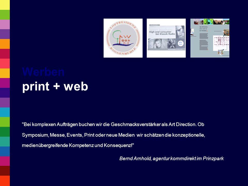 Werben print + web