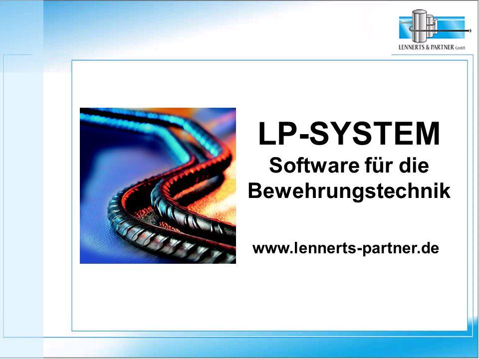 LP-SYSTEM Software für die Bewehrungstechnik