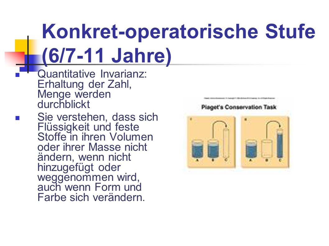 Konkret-operatorische Stufe (6/7-11 Jahre)