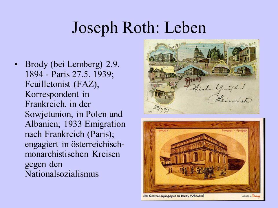 Joseph Roth: Leben